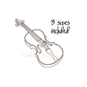 Violin Viola sketch orchestra instrument embroidery design