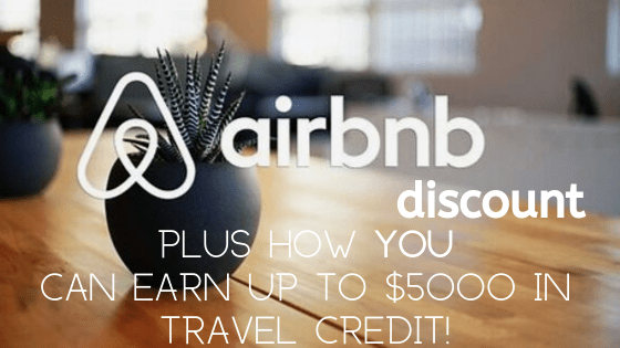 Airbnb discount + travel credits