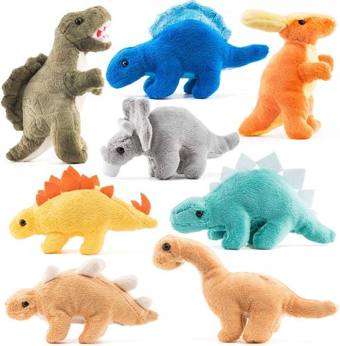 Plush Dinosaurs 8 Pack - Baby Gift Ideas - Goldilocks Effect
