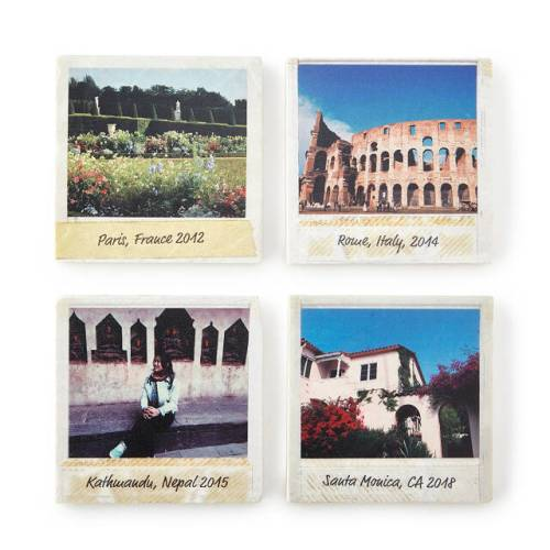Custom Travel Photo Coasters