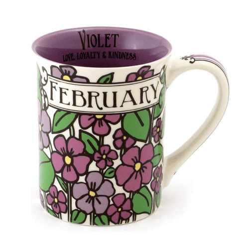February Stoneware Coffee Mug - February Gift Ideas - Goldilocks Effect