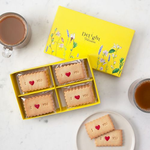 Love Message Shortbread Cookies