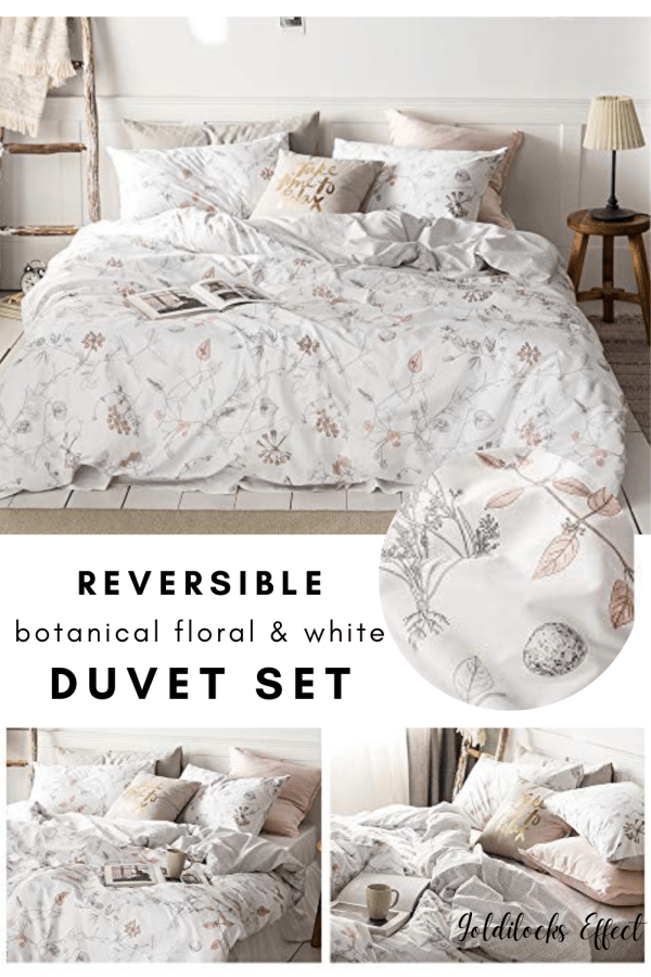 queen floral duvet set