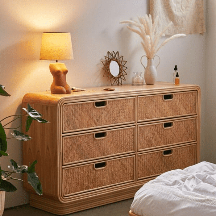 Ria 6-Drawer Dresser - Boho Bedroom