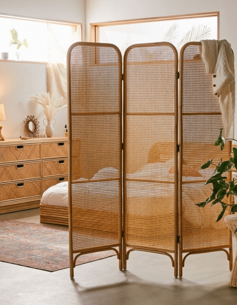 Ria Screen - Rattan - Boho Bedroom