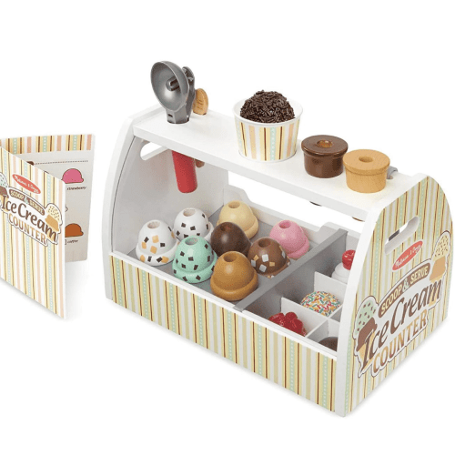 Wooden Toys - Scoop and Serve Ice Cream Counter