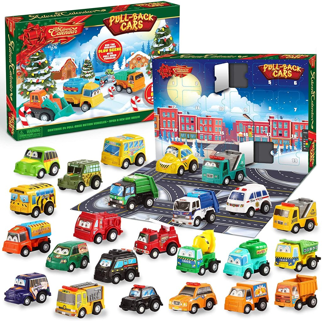 Pull Back Car Toy Advent Calendar