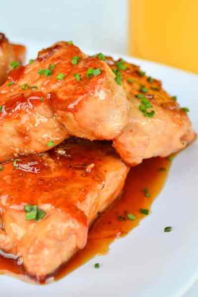 Orange-glazed-pork