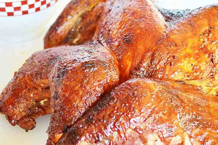 Cranberry molasses turkey