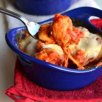 Baked Gnocchi with Basil Tomato Sauce