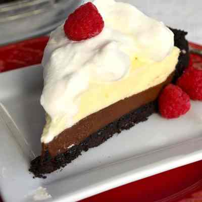 Non-alcoholic Black Bottom Pie