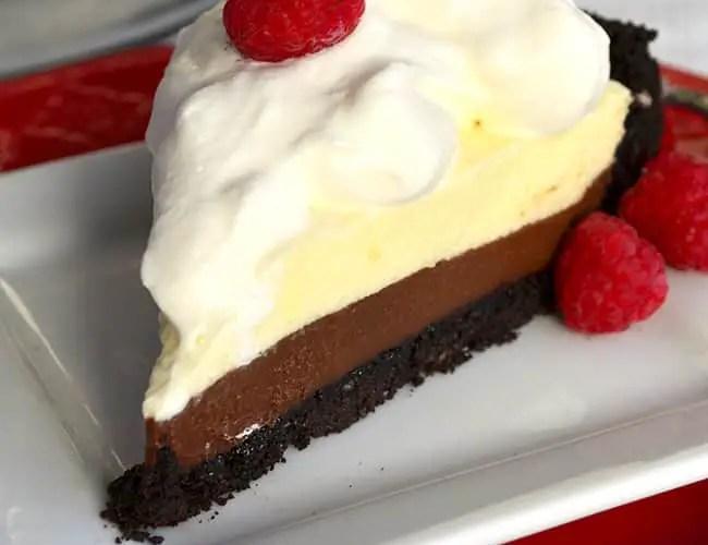 Non-alcoholic Black Bottom Pie