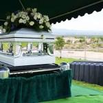 My moms funeral casket