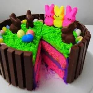 Kit kat Peep easter cake