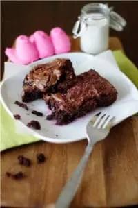 Peep stuffed Brownies