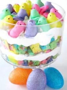 Peeps easter trifle