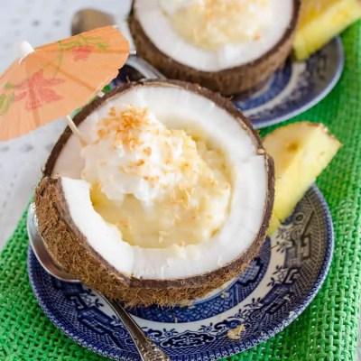 Coconut Cream Pie in a Coconut