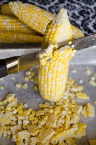 Cutting Corn From The Cob