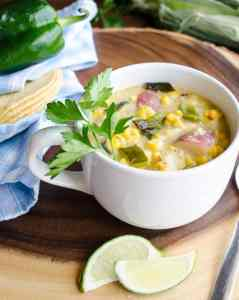 Roasted Corn And Poblano Chowder 2