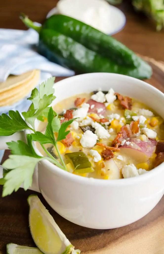 Roasted Corn And Poblano Chowder 3