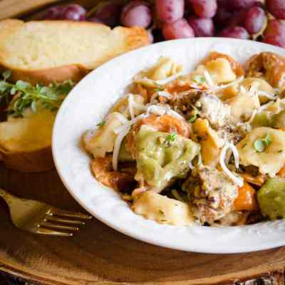 25 Minute Tortellini and Sausage Dinner