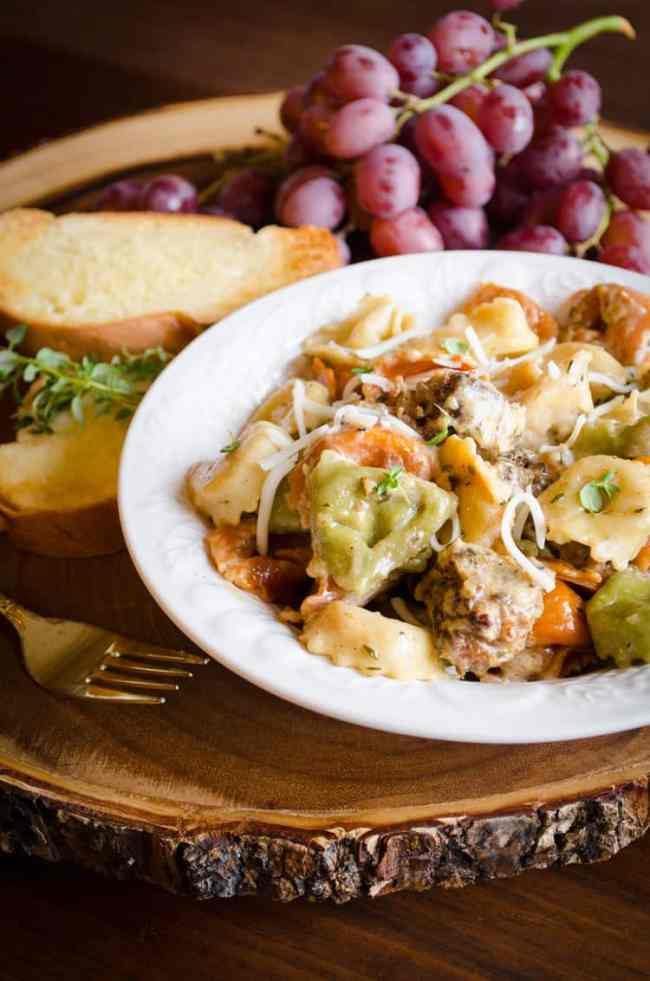 20 Minute Tortellini and Sausage Dinner