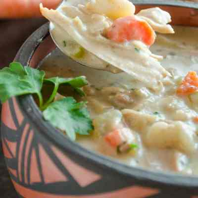 Creamy Leftover Turkey Stew