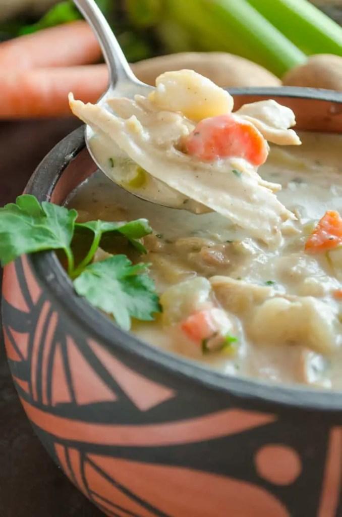 Creamy Leftover Turkey Stew