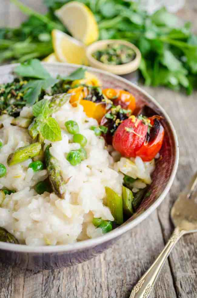 Spring Vegetable Risotto - The Goldilocks Kitchen
