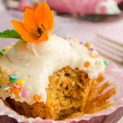 Chai Carrot Cupcakes with Mascarpone Cream Cheese Frosting