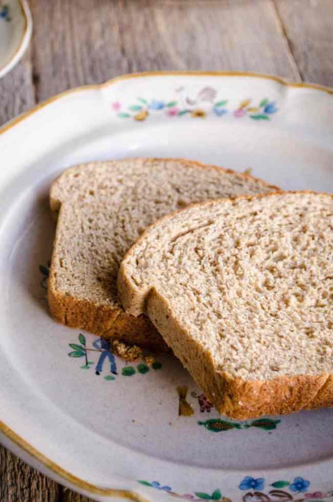 The Goldilocks Kitchen style Harvest Whole Wheat Bread is perfect for Classic Creamed Eggs on Toast.