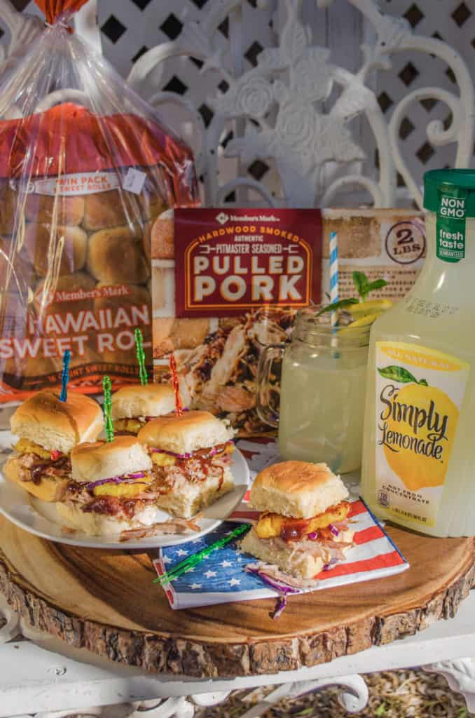 Easy 30 Minute Pulled Pork Sliders made with products from Sam's Club.