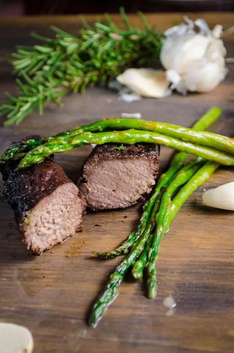 Grilled Elk Steak With Buttered Asparagus The Goldilocks Kitchen