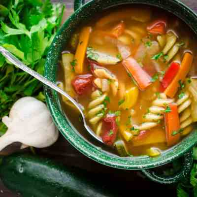 Meatless Monday Vegetable Rotini Soup