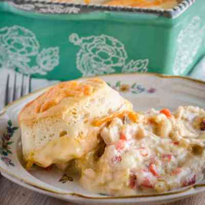 Creamy Chicken Biscuit Bake