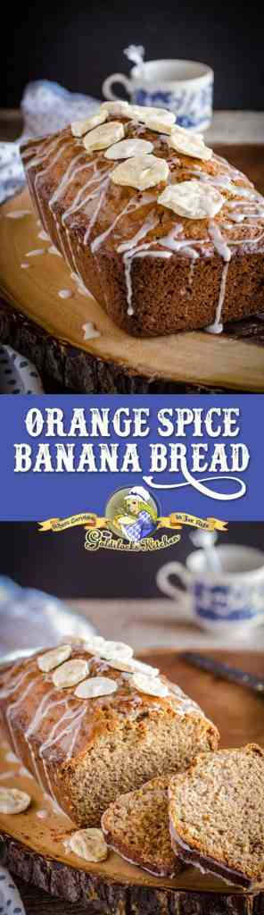 Take regular banana bread to the next level by artfully adding a few more hints of tropical taste with oranges and spices, finished off with a lovely light orange glaze.