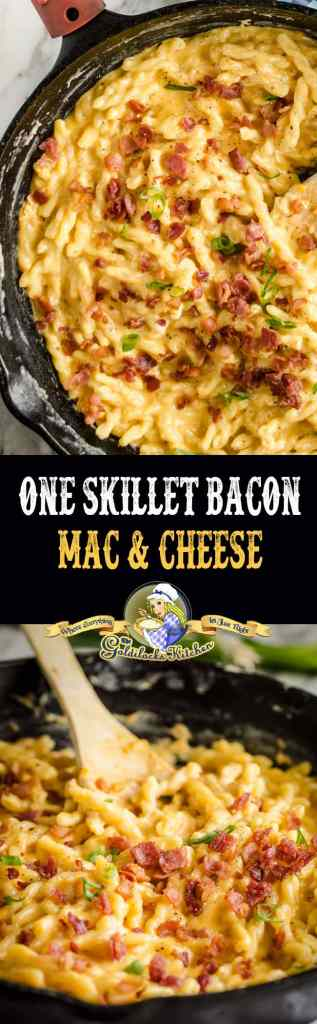 #Sponsored This 20 minute One-Skillet Bacon Mac and Cheese is ultimate high-class comfort food when you use @SargentoCheese aged cheeses, found at @Albertsons. A fast, easy and delicious weeknight meal.