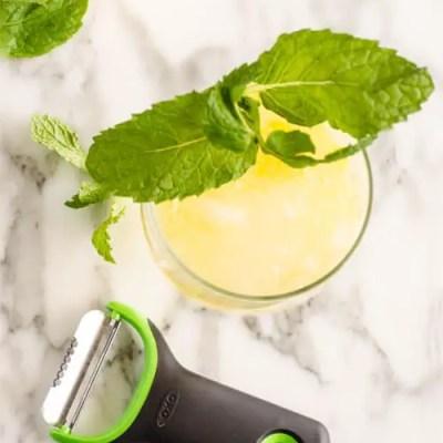 Lemonade Sparkler featuring OXO prep peeler