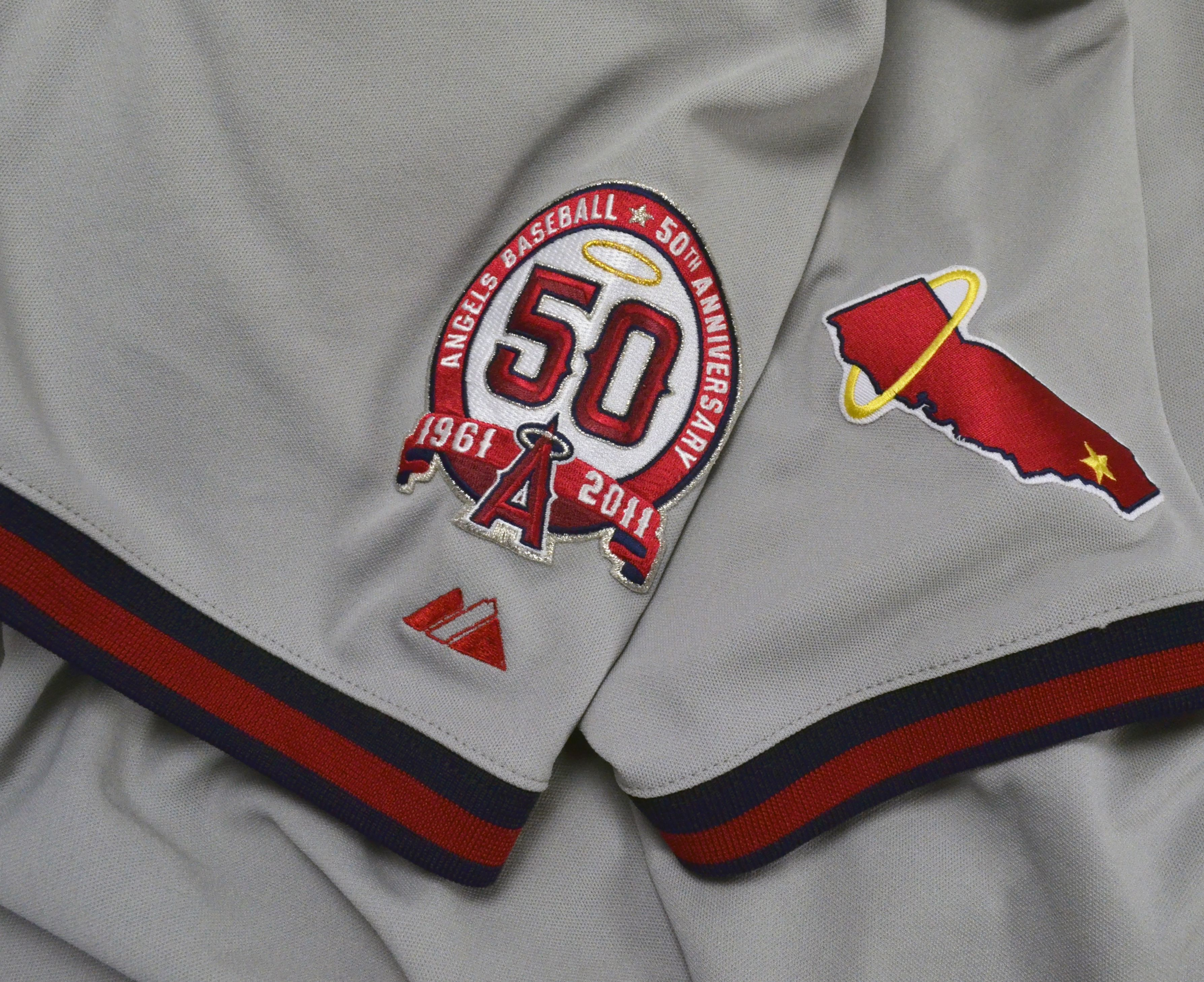 Lot Detail Mike Trout Game Worn 2011 Angels Throwback