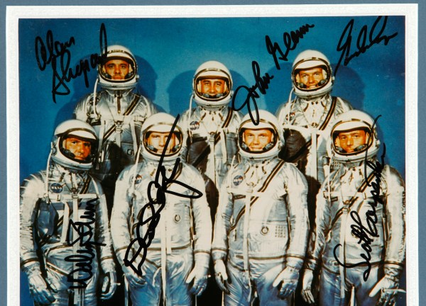 Lot Detail - Mercury 7 Astronauts 8x10 Photo Framed and ...
