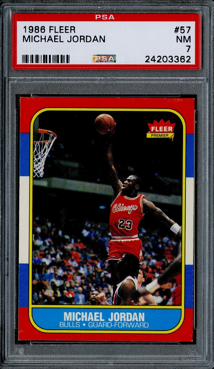 Lot Detail 1986 87 Fleer 57 Michael Jordan Rookie Card