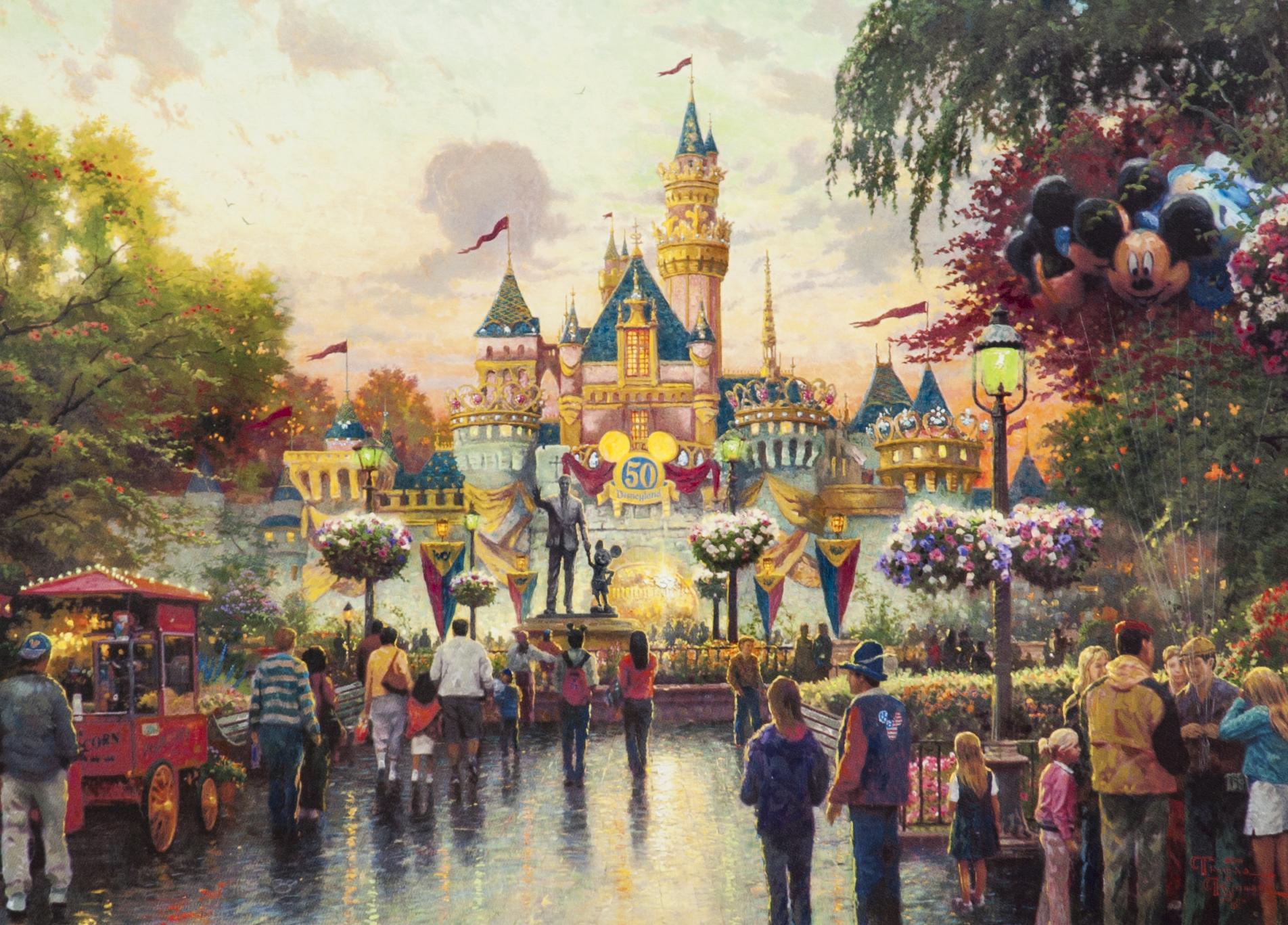 Lot Detail Thomas Kinkade Disneyland 50th Anniversary