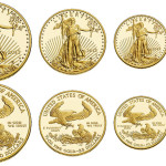 All 4 weight denominations of American Gold Eagles contain 22-karat gold.