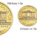 All weight denominations of Austrian Philharmonic coins feature identical images of the Great Organ.