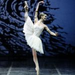 Odette, from Swan Lake, is represented on the Palladium Ballerina