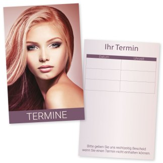 Kosmetiksalon-Friseur-Terminkarte BEAUTY FACE