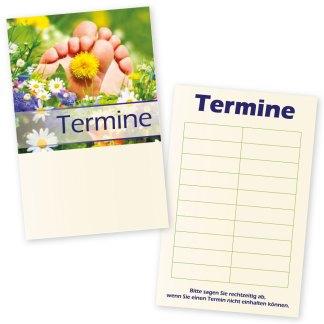 Fußpflege-Terminkarte SOMMERWIESE mit 10 Terminen