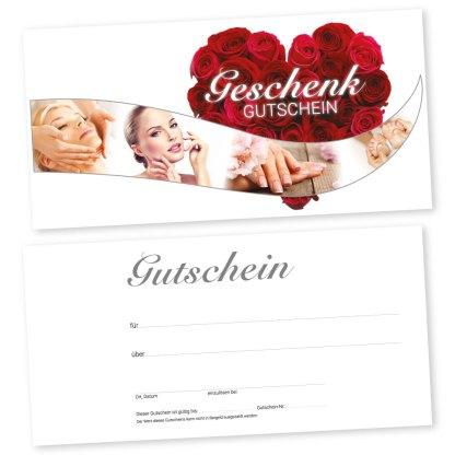 Kosmetikstudio Geschenkkarte BEAUTY HEART (Gutscheinkarte)