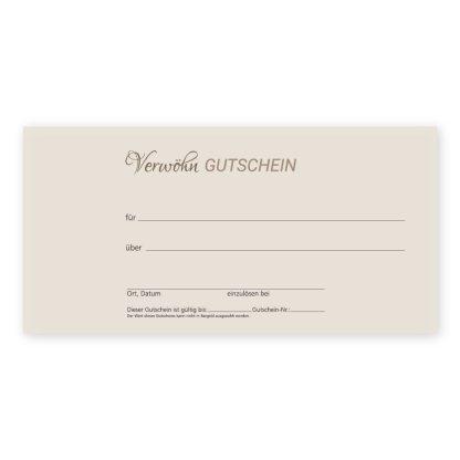 Kosmetikstudio-Gutscheinkarte SCHÖN IM FRÜHLING für Frauen Rückseite