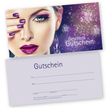 Make-up und Nagelgutscheinkarte STYLING (Gutscheinkarte)